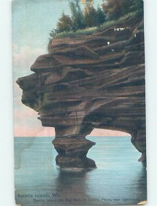 Divided-back NATURE SCENE Apostle Islands - Near Red Cliff Wisconsin WI AD8315