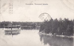 THOUSAND ISLANDS, Ontario, Canada, PU-1909; Excursion Boat
