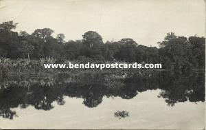 costa rica, Tortuguero, Canal Scene (1910s) Manuel Gomez Miralles RPPC