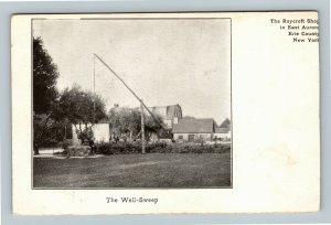 East Aurora NY, Well Sweep, Vintage New York Postcard