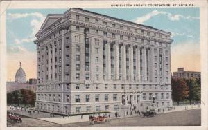 New Fulton County Court House, ATLANTA, Georgia, PU-1921
