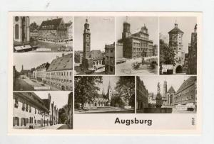 RP  Augsburg , Germany, 40-50s, 8-view postcard