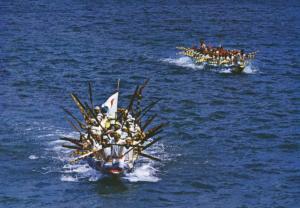 Expo 75 Okinawa Japan Sea Festival Northern Okinawa Boat Race Postcard D14