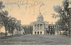 MADISON WI~UNIVERSITY-MAIN HALL~1907 ROTOGRAPH PHOTO POSTCARD