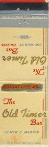 The Old Timer Bar Match Cover, Kansas City, Missouri/MO