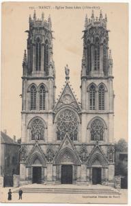 France, NANCY , Eglise Saint-Leon, unused Postcard