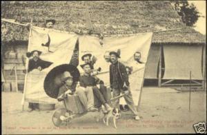 indonesia, SUMATRA, Moeara-Tambesi, Party KNIL Soldiers