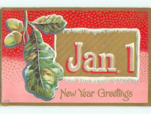 Pre-Linen new year JANUARY 1ST IN LARGE ICY LETTERS k5037