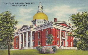 Court House and Indian Treaty Rock Canandaigua New York