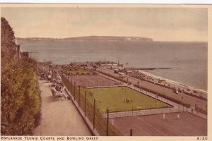 Esplanade Tennis Courts & Bowling Green, Shanklin, Isle of Wight, UK, PU-1947