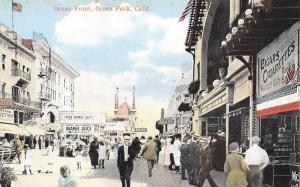 Ocean Park California~Ocean Front~Orange Juice Stand 5c~Walter's Gift Shop~1912