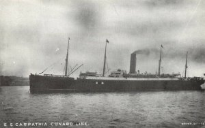 Postcard S.S Carpathia Cunard Line, Steam Ship, Cruise Liner, Titanic Rescue CA6