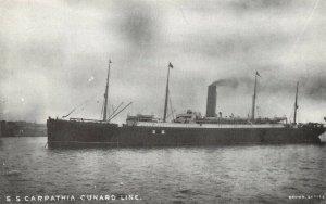 Postcard S.S Carpathia Cunard Line, Steam Ship, Cruise Liner, Titanic Rescue CA6
