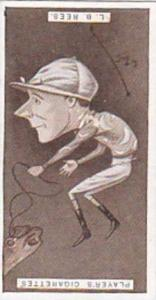 Player Vintage Cigarette Card Racing Caricatures 1925 No 31 L B Rees