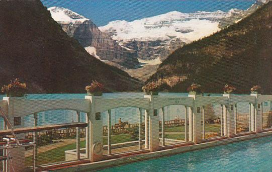 Canada Alberta Lake Louise Victoria Glacier Mount Letroy Lake Louise And Swim...