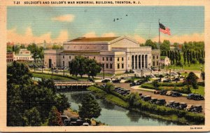New Jersey Trenton Soldiers and Sailors War Memorial Building 1954 Curteich