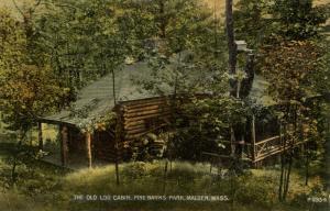 MA - Malden. Pine Banks Park, Log Cabin