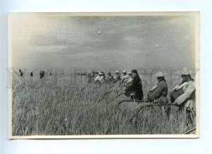 155291 Propaganda CHINA Peasant Sihong County LOCUST photo
