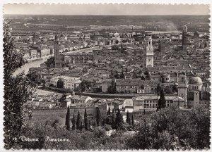 Verona, Panorama, unused real photo, vera fotografia Postcard