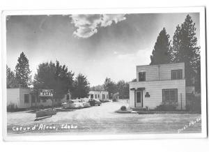 Holland Motel Coeur d' Alene Idaho Real Photo Bob's Photo