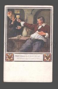 080512 DEVIL as Ghost & Drunk Man Vintage Color PC