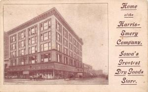 Des Moines Iowa~Harris-Emery Company~Department Store~Dry Goods~Mannequins~1908