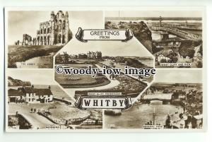 tp9252 - Yorks - Multiview x 5 of Various Places of Interest, Whitby - Postcard