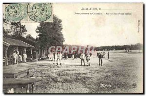 Postcard Saint Mihiel Old Army Barracks hunters Arrival of young soldiers