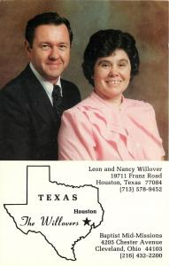 Houston Texas-Cleveland~Baptist Missionaries Leon and Nancy Willover~1960s