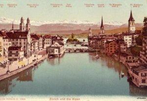 SWITZERLAND ZURICH UND DIE ALPEN