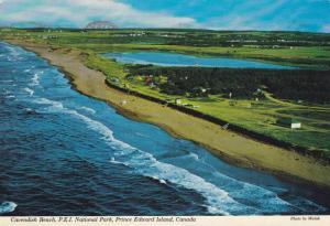 Aerial view, Cavendish Beach,  P.E.I. National Park,  Prince Edward Island,  ...