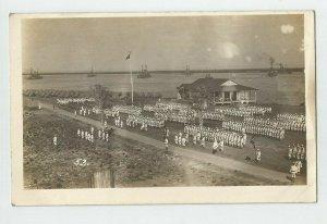 Real Photo POSTCARD  ~US Navy ~ DRILLS  Ships ~ Circa 1908 ~53