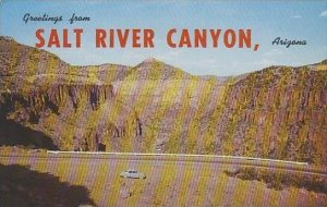 Arizona Sait River Canyon Greeting From Salt River Canyon