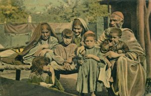 PAKISTAN Afreedi native family ethnic early postcard