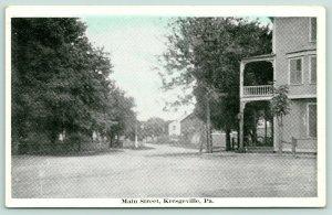 Kresgeville Pennsylvania~Main Street~Don't Blink~Road Out of Town~1920s Blue Sky