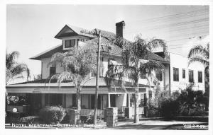 Clermont Florida~Hotel Westfall~Osceola Avenue~8th Street~Razed 1985~1940s RPPC