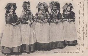 Geispolsheim Strasborg Germany Ladies German Antique Fashion Vintage Postcard