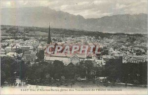 Old Postcard Aix les Bains View Terraces Taking the Hotel Mirabeau
