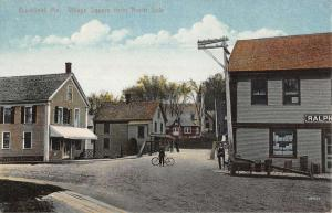 Buckfield Maine Village Square From North Side Antique Postcard K16789