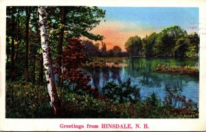 New Hampshire Greetings From Hinsdale 1939