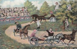 Fantasy Baby Harness Horse Race , 1909