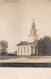 E81/ Atwater Ohio RPPC Postcard c1910 Congregational Church Building 9