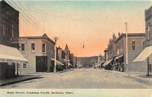 H11/ Jackson Minnesota Postcard c1910 Main St North Jewelry Store Albertus
