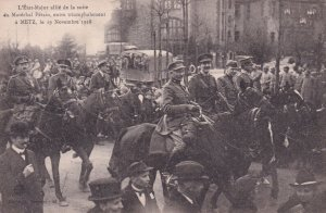 METZ , Germany (now France) , 1918 ; Military entering town