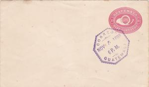 10 Diez Centavos Envelope , GUATEMALA , 1898