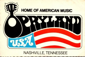 Tennessee Nashville Opryland U S A Home Of American Music 1974