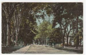 Washington Street Looking North Norwich Connecticut 1909 Anniversary postcard