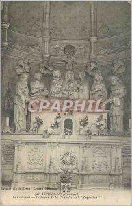 Old Postcard Verdelais Gironde Interior Calvary Chapel of Atonement