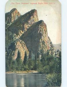 Divided-Back YOSEMITE VALLEY IN PARK Stockton & Modesto California CA hk3894