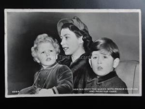 H.M. The Queen, Prince Charles & Princess Anne 10th June 1953 RP Message on back